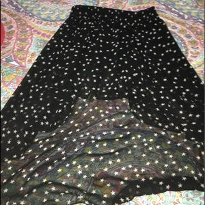 Women's high low star skirt